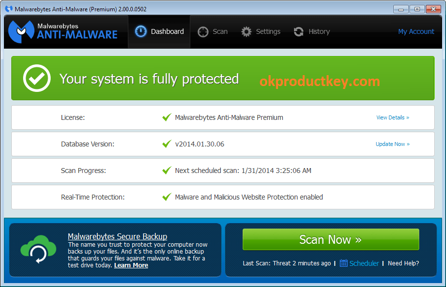 Malwarebytes Premium 4.3.0.206 Crack + License Key Free Download