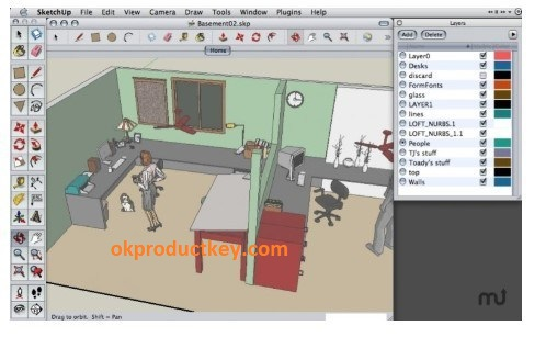 SketchUp Pro 19.3.253.135 Crack + License Key Free Download { Latest }
