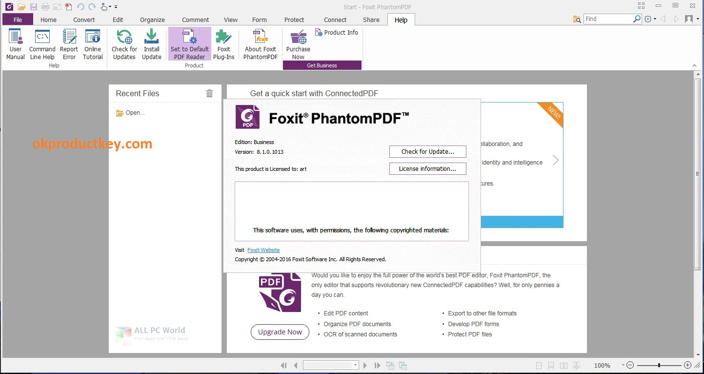 Foxit PhantomPDF Business 9.7.0 Build 29478 Crack + Activation Key Free Download