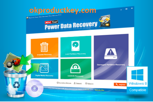 MiniTool Power Data Recovery 8.8 Crack + License Code Free Download